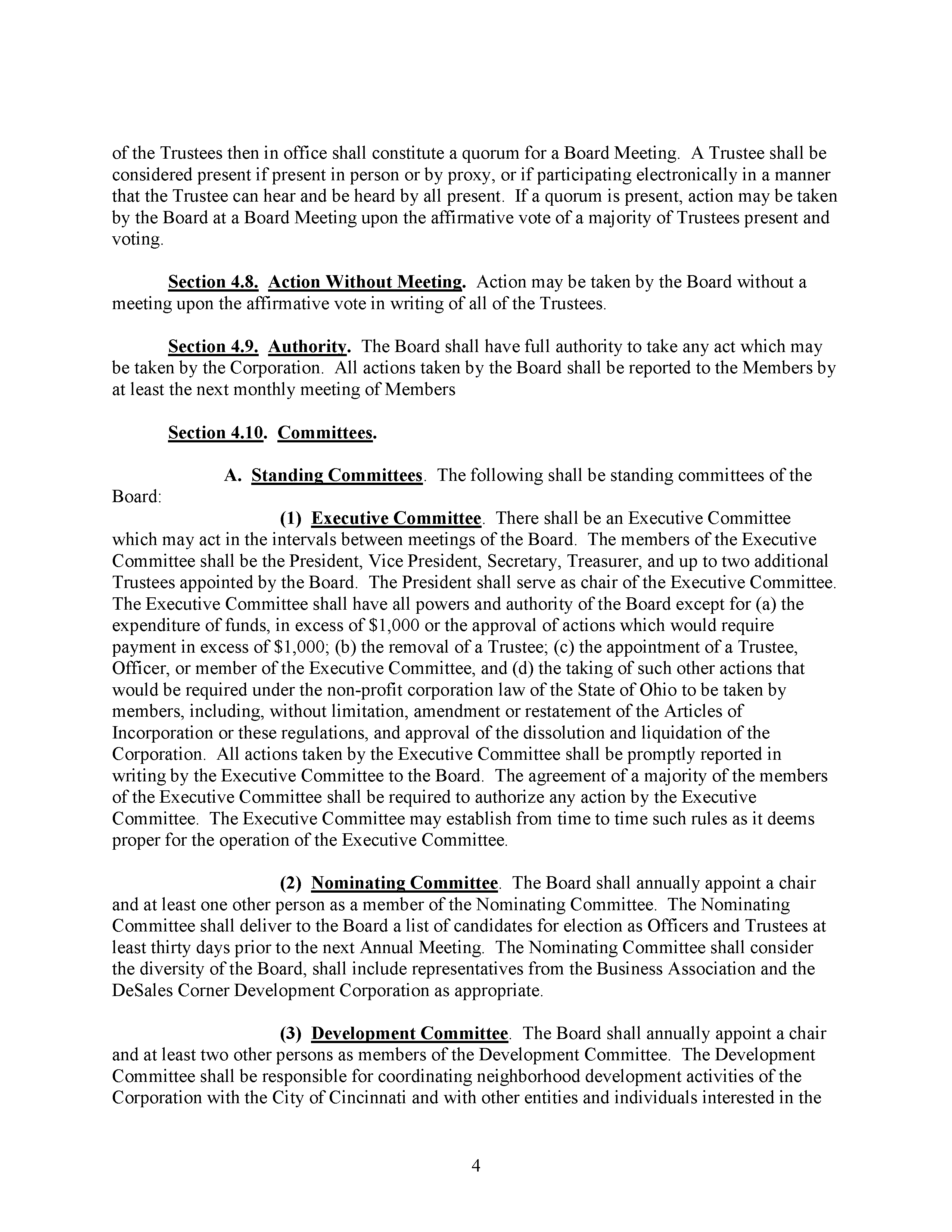 Code of Regulations, page 4