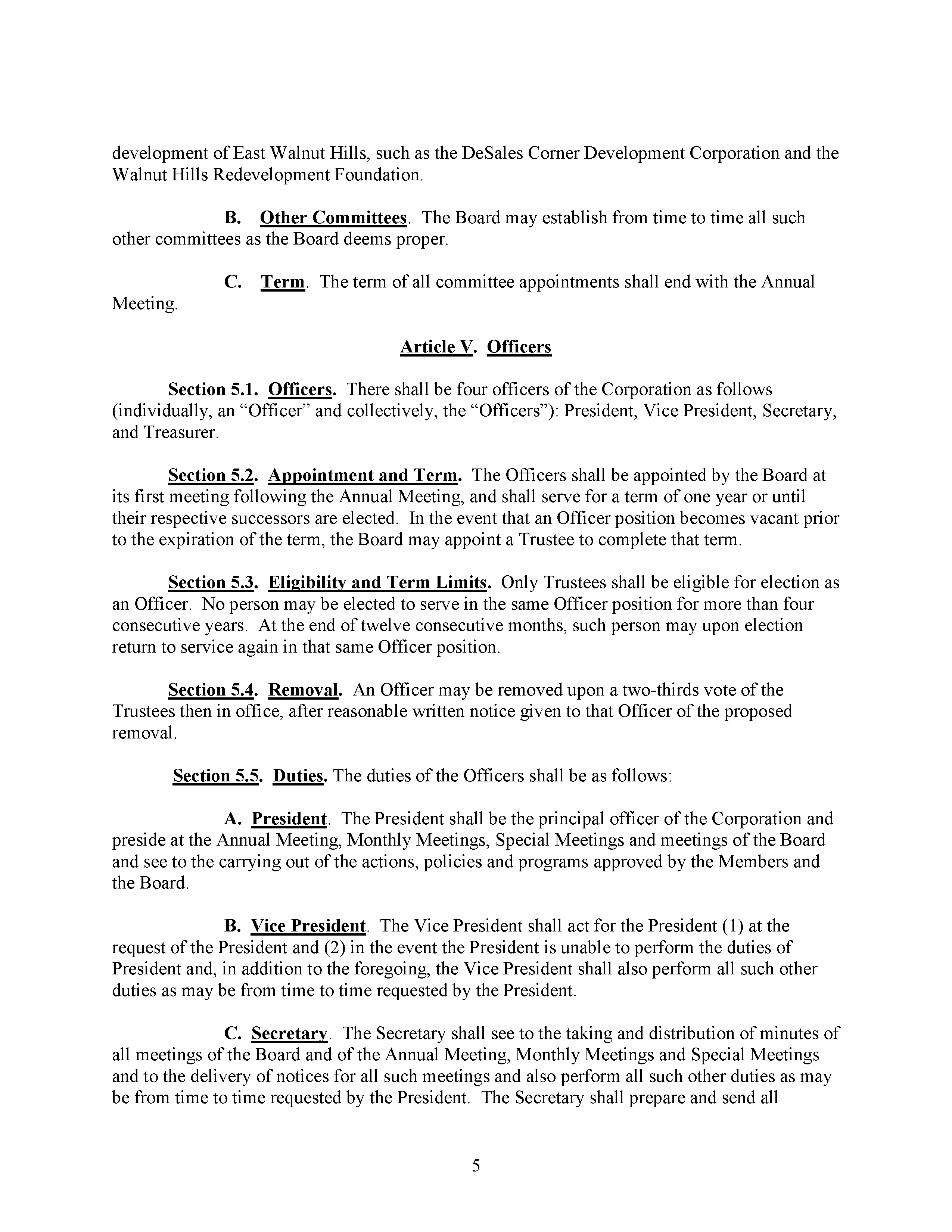 Code of Regulations, page 5